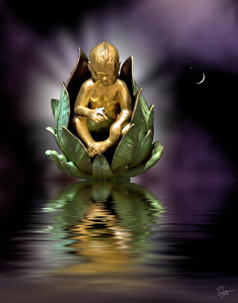 Photograph - Baby Buddha by Endre Balogh