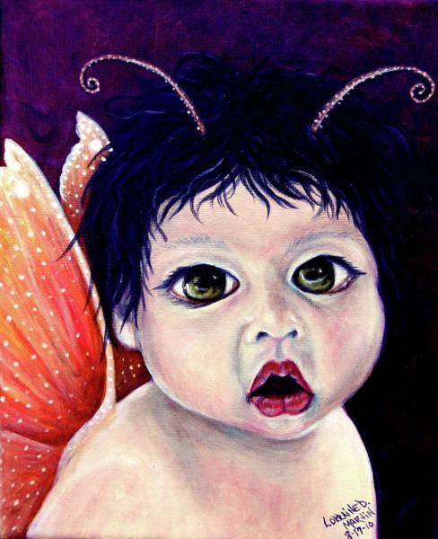 Wall Art - Painting - Baby Fairy by Lorraine Davis Martin