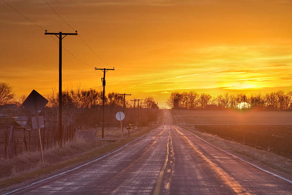 Photograph - Back Country Road Sunrise  by James BO Insogna