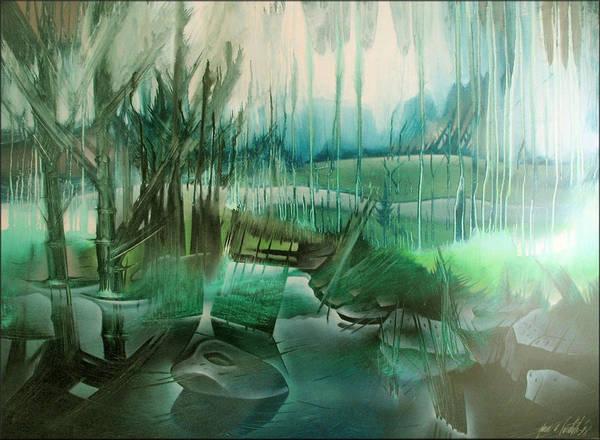 Painting - Back Nine - Southwoods by Glenn Bautista