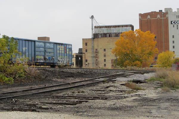 Photograph - Back Of Warehouse Train 2 by Anita Burgermeister
