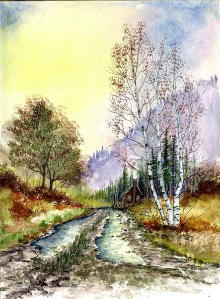 Up North Painting - Back Roads by Steven W Schultz