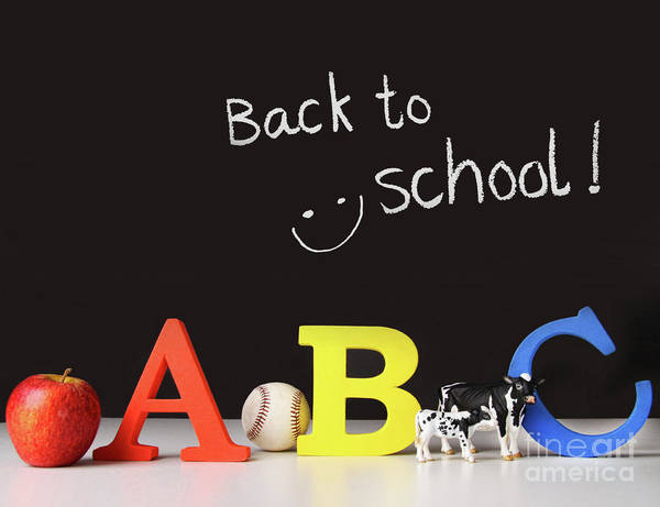 Lessons Photograph - Back To School Concept With Abc Letters by Sandra Cunningham