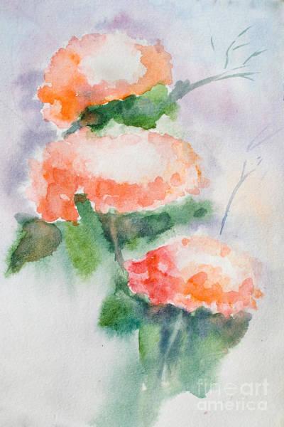 Pistil Painting - Background With Pink Flowers by Regina Jershova