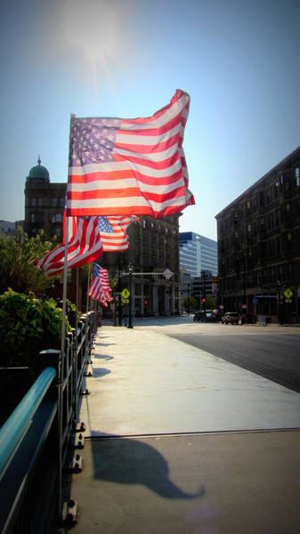 Photograph - Backlit Flag by Anita Burgermeister