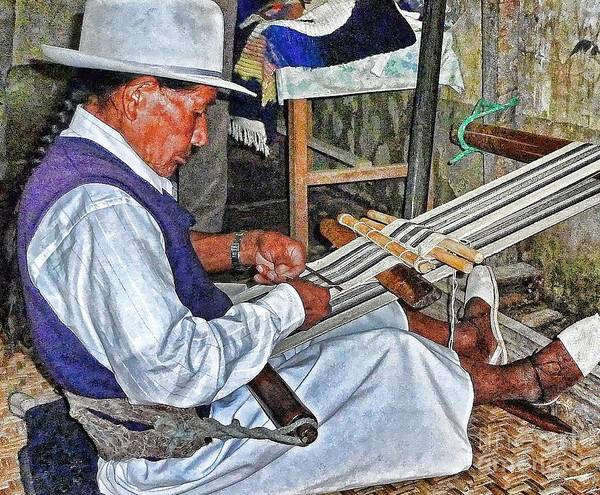 Photograph - Backstrap Loom - Ecuador by Julia Springer