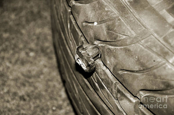 Photograph - Bad Day To Be A Tire by Andee Design
