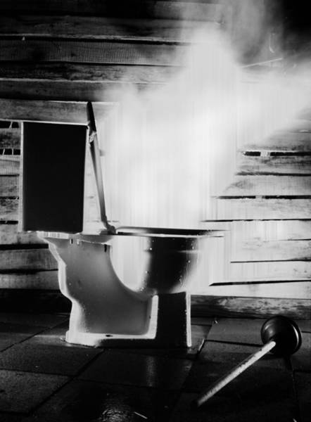 Toilet Photograph - Bad Idea by Gabe Arroyo