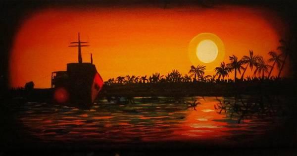 Bad Sunset Art Print