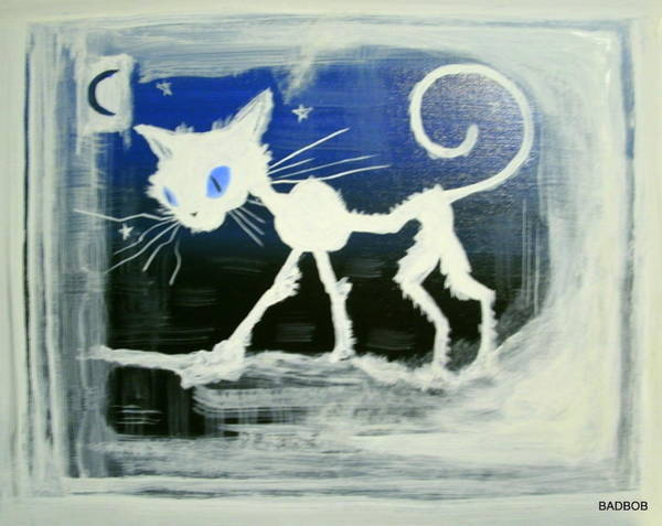 Badcat Art Print