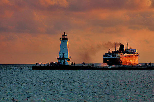 Wall Art - Photograph - Badger Leaving Ludington by Matthew Winn