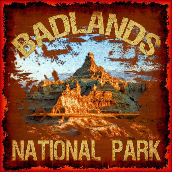 Wall Art - Photograph - Badlands National Park by David G Paul