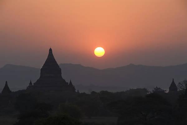 Wall Art - Photograph - Bagan Temples At Sunset II by Gloria & Richard Maschmeyer