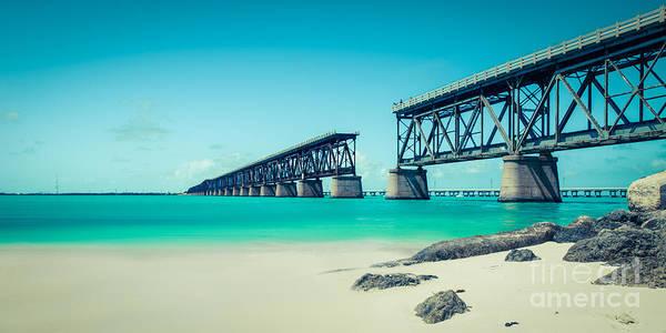 Bahia Honda Photograph - Bahia Hondas Railroad Bridge  by Hannes Cmarits