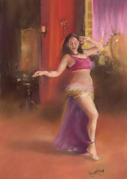 Belly Dancing Painting - Bailarina De La Danza Del Viente by Margaret Merry