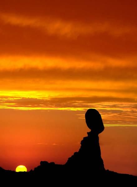 Photograph - Balanced Rock Sunset by Susan Candelario