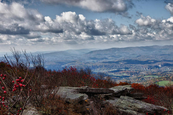 Photograph - Bald Knob Overlook Of The New River Valley by James Woody
