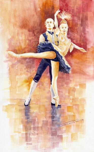 Wall Art - Painting - Balet 01 by Yuriy Shevchuk