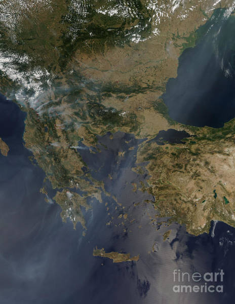 Balkan Peninsula Photograph - Balkan Fires by Nasa