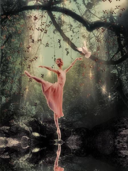 Dove Digital Art - Ballerina by Lee-Anne Rafferty-Evans