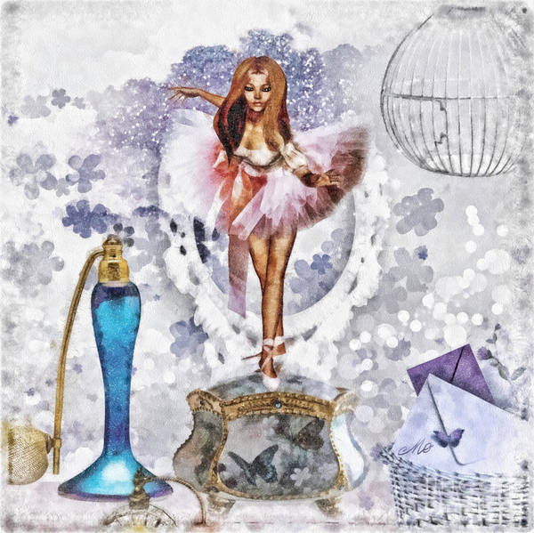 Wall Art - Mixed Media - Ballerina by Mo T