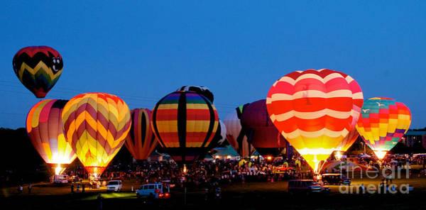 Photograph - Balloon Glow 2 by Mark Dodd