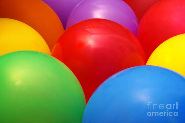 Balloon Festival Photograph - Balloons Background by Carlos Caetano
