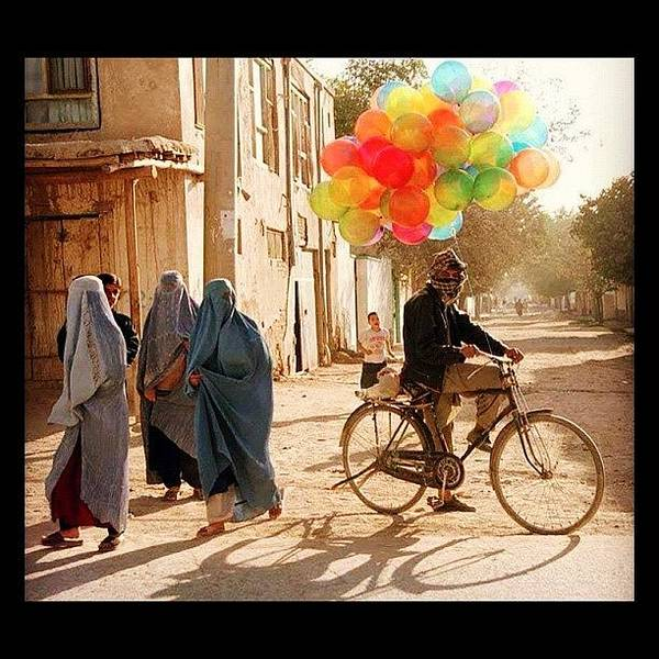 Military Photograph - Balloons In Afghanistan by Cody Barnhart