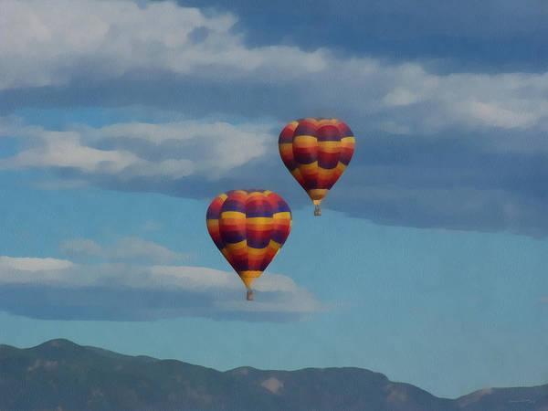 Rockies Digital Art - Balloons Over The Rockies Painterly by Ernie Echols