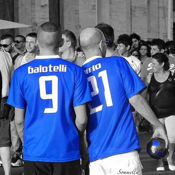 Wall Art - Photograph - Balotelli E Pirlo, Gaypride 2012 by Gianluca Sommella