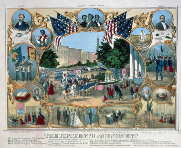 Photograph - Baltimore: 15th Amendment by Granger