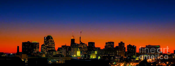 Photograph - Baltimore At Sunset Wide by Mark Dodd