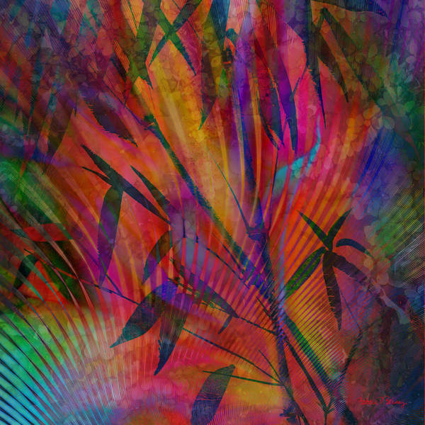 Digital Art - Bamboo Abstract by Barbara Berney