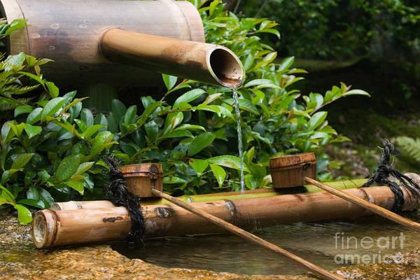 Kansai Region Wall Art - Photograph - Bamboo Fountain by Ei Katsumata