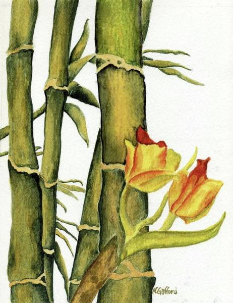 Bamboo Paradise Art Print by Norma Gafford