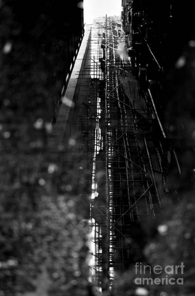 Scaffold Photograph - Bamboo Reflections by Dean Harte