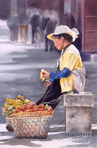 Asian Wall Art - Painting - Banana Break by Sharon Freeman