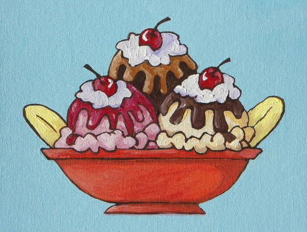 Whipped Cream Painting - Banana Split by Sandy Tracey