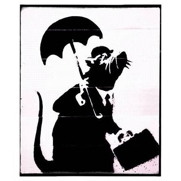 Drawing Wall Art - Photograph - #banksy #graffiti #rodent #rat by A Rey