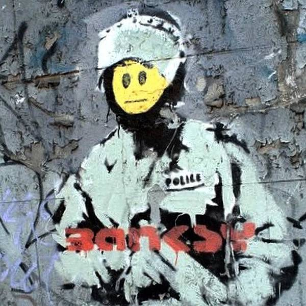 Drawing Wall Art - Photograph - #banksy #stencil #streetart #police by A Rey