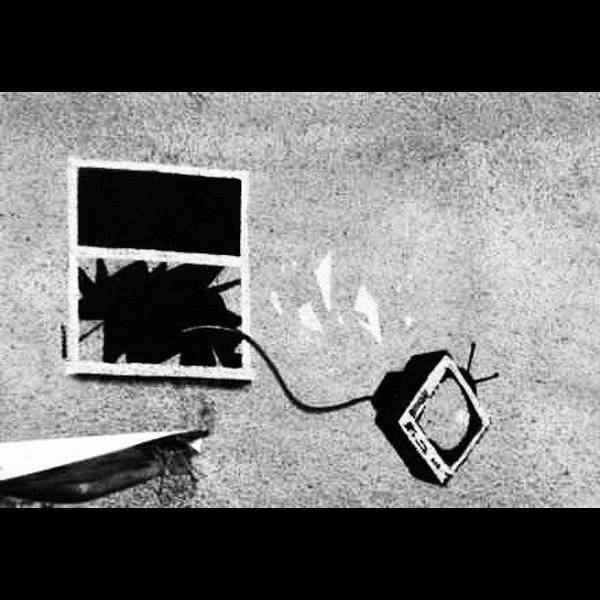 Drawing Wall Art - Photograph - #banksy #tv #stencil #streetart by A Rey