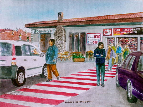 Bar Ristorante Mt. Etna Sicily Art Print