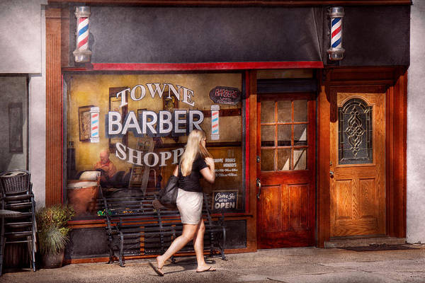 Photograph - Barber - Barbershop - Time For A Haircut by Mike Savad
