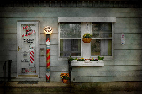 Photograph - Barber - Belvidere Nj - A Family Salon by Mike Savad