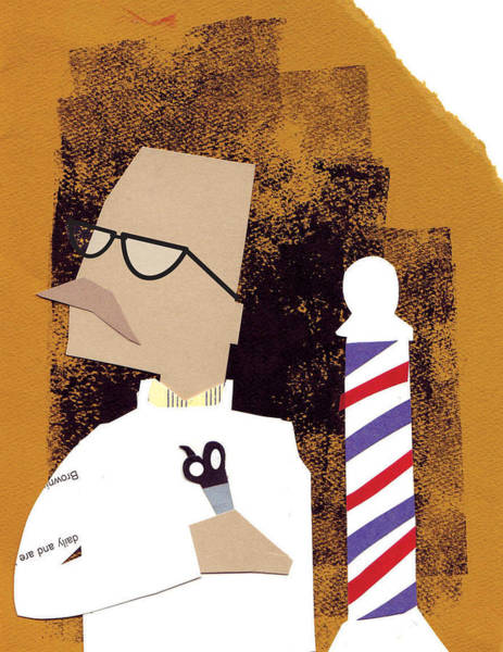 Moustache Mixed Media - Barber by Jim Howard
