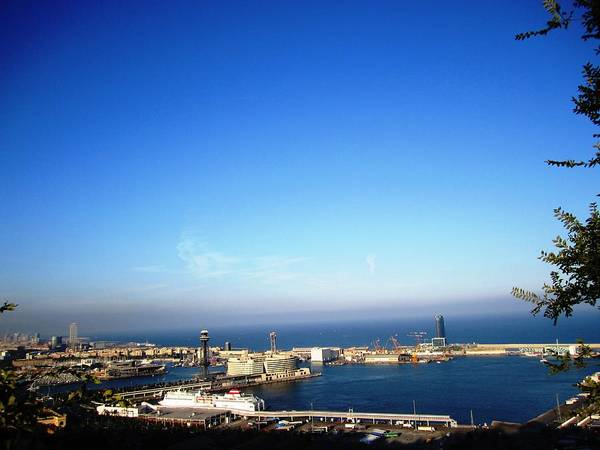 Photograph - Barcelona Harbor Marina View Iv Cruise Ship In Spain by John Shiron
