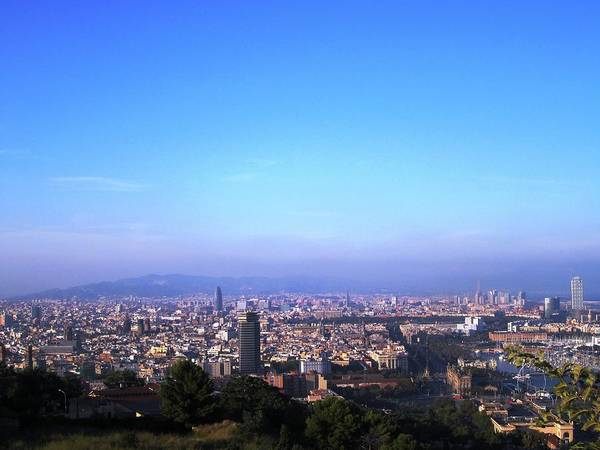 Photograph - Barcelona Panoramic City View Spain by John Shiron