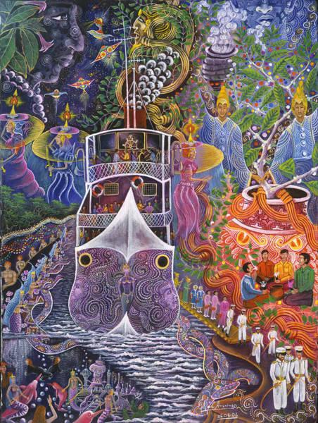 Art Print featuring the painting Barco Fantasma by Pablo Amaringo
