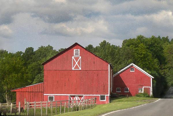 Barn Along The Way Art Print