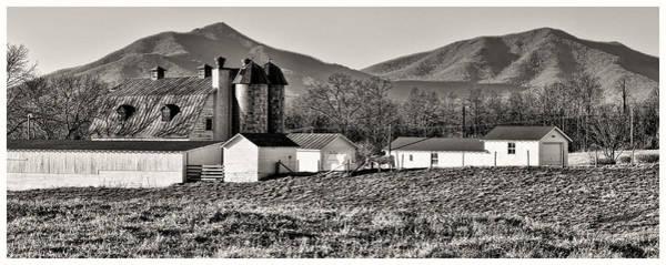 Wall Art - Photograph - Barn And Mountain Range by Steve Hurt